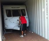 caravan container loading