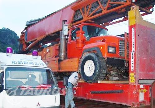 Concrete-pumping truck to NZ